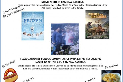 Announcement: Ramona Gardens hosts movie night fundraiser after family tragedy