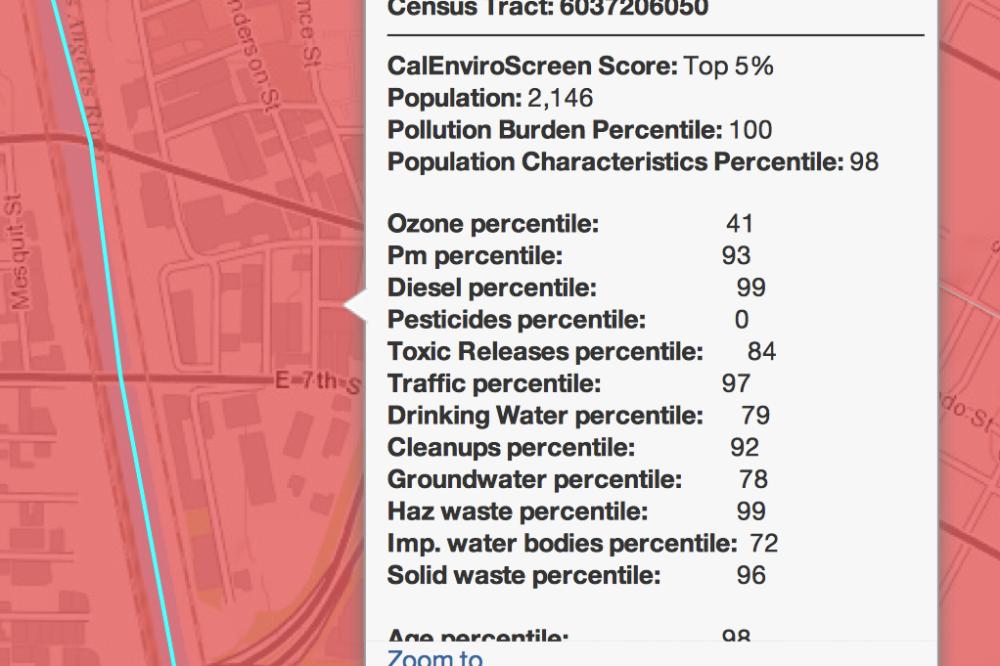 Boyle Heights se ubica en 9º lugar en la lista de contaminación de California