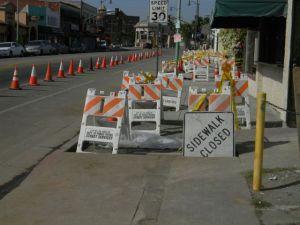 Construction along First Street. Photo By David Galindo