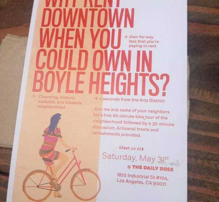 Gentri-flyer sets off social media storm in Boyle Heights