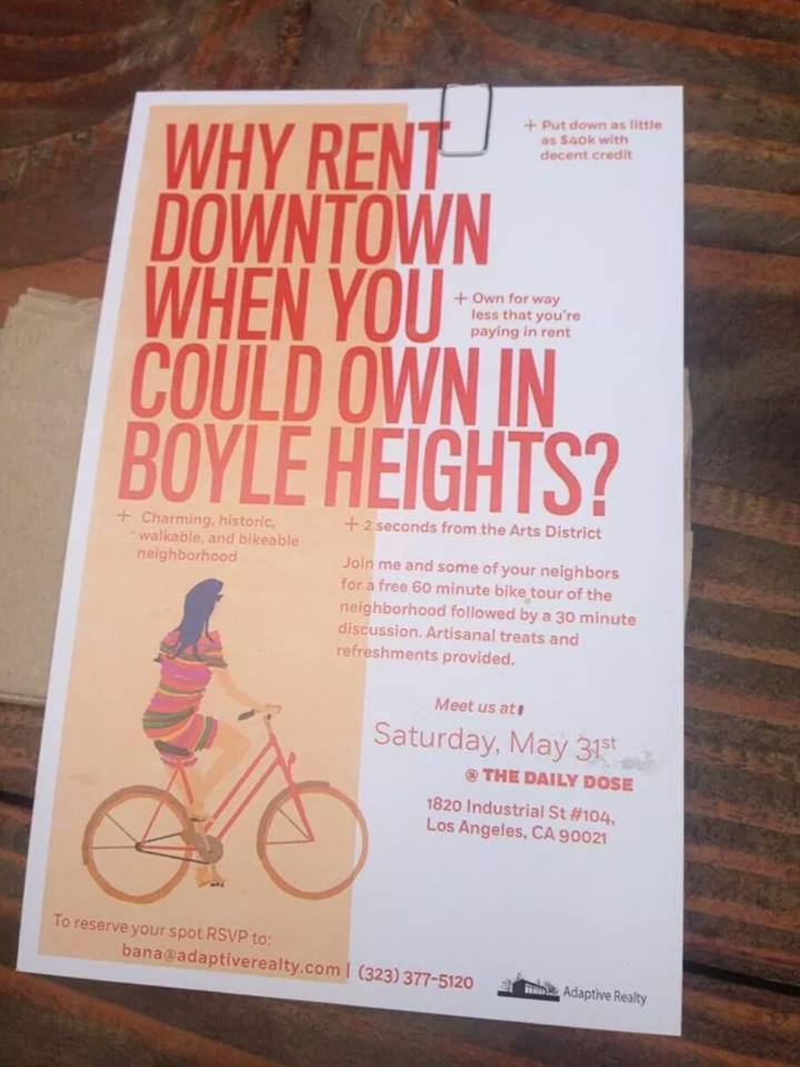 BH Gentrification flyer