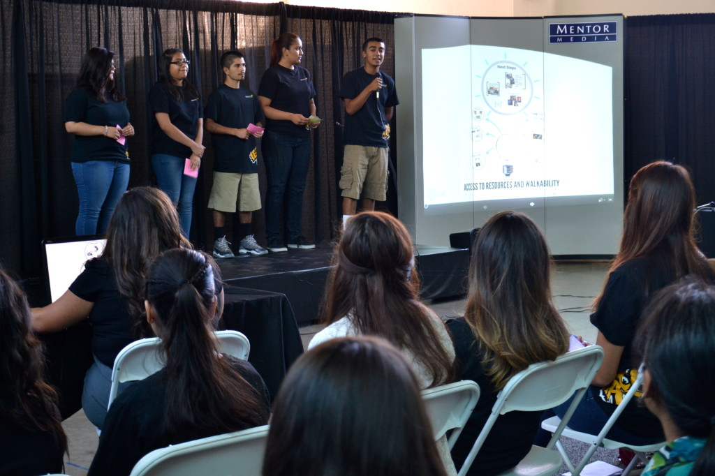Students from Legacy LA present on environmental justice. Photo by Tiffany Lam