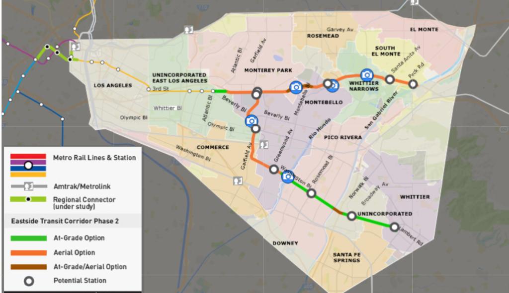 Metro's Eastside Transit Corridor Phase 2 Build Alternatives via Metro.net