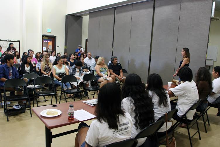 Community residents join BHB youth reporters and contributors to share story ideas on Saturday, July 26. Photo by Jonathan Olivares