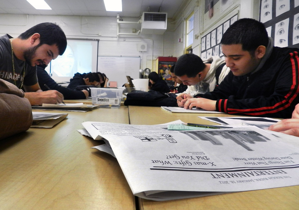 The response from some students who took the Common Core test this year was mixed. Photo by Andrew Roman
