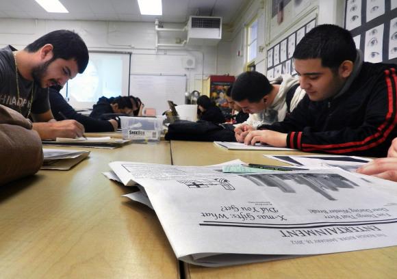 Las reacciones de los estudiantes que tomaron el Common Core examen fueron mixtas. Foto de Andrew Roman