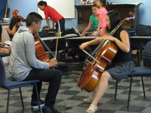 Learning to play orchestral instruments takes a lot of practice and commitment. Photo by Jonathan Olivares.