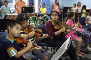 Twenty-five youth currently participate in youth orchestra. Photo by Jonathan Olivares.