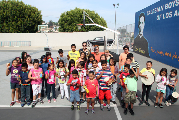The Boyle Heights Community Youth Orchestra offers free classes to children from 6 to 12 years of age. Photo by Jonathan Olivares.