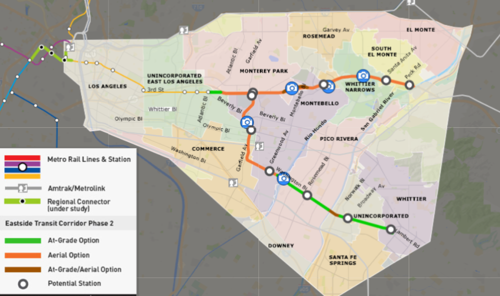 Metro releases study for light rail from East LA to Whittier or El Monte