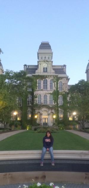 Dulce Morales empezo la Universidad de Syracuse en Agosto. Foto de Dulce Morales.