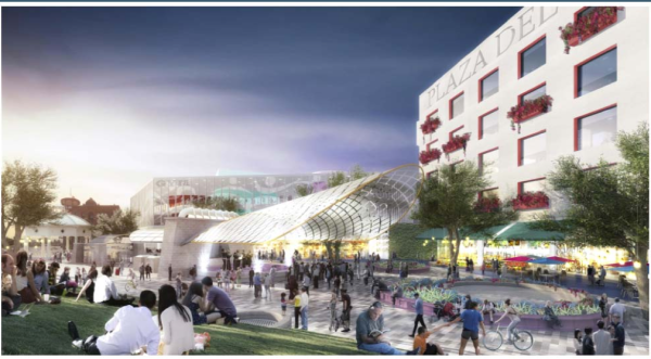 Rendering of Metro plans for Mariachi Plaza. Source: Metro