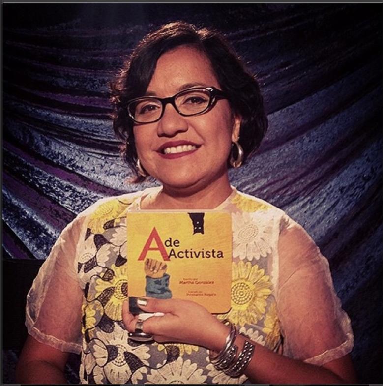 "Martha Gonzalez debuts her first book ""A de Activista."" Photo from Espacio1839's Instagram page."