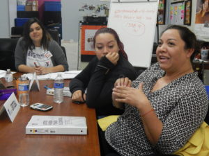 Critsela Ortiz shares her challenges with other members of the Diabetes Prevention Program. Photo by Jennifer Lopez