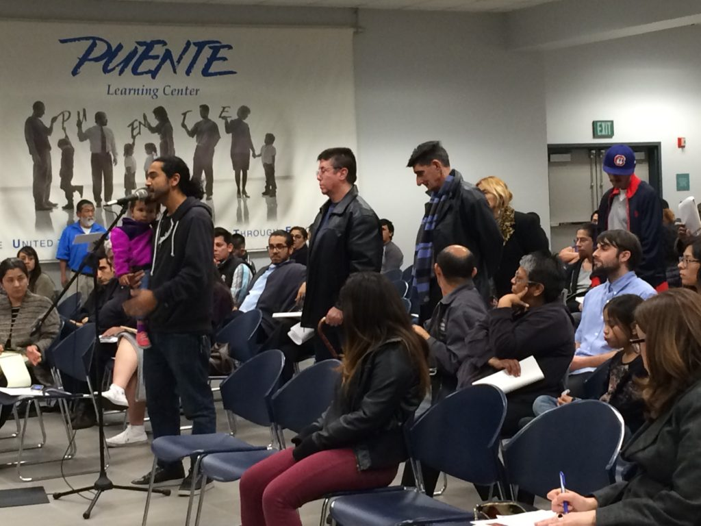 Community residents weigh in on Metro's development proposals in Boyle Heights. Photo by Mariana Ramirez