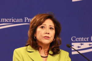 "L.A. County Supervisor Hilda Solis is behind a ""deferred Action Task Force"" to aid undocumented immigrants in applying for relief. Photo by Flickr user Talk Radio News Service/Creative Commons."