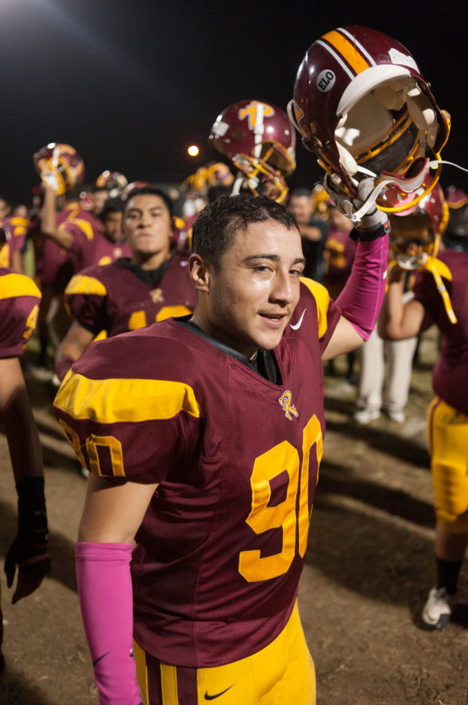 Michael Mendez, a former Roosevelt High School football player, died Wednesday in Boyle Heights. Photo by Eddie Ruvalcaba.