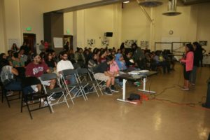 Participants in 'Sexual Violence as a Public Issue' community forum held at Boyle Heights City Hall. Photo by Antonio Mejias