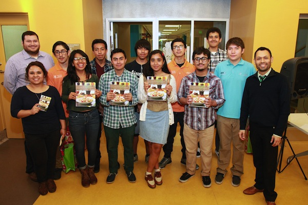 "Students from East L.A. and Boyle Heights helped produce ""Mi Vida, Mi Salud Cookbook."" Photo by Margaret Molloy."