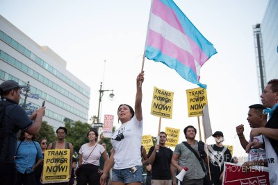 Protest at Mariachi Plaza brings attention to violence against transgendered people