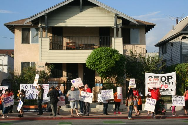 Tenants protest against 'displacement' by ELACC