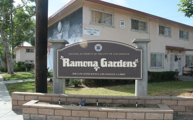 Early Saturday shooting in Ramona Gardens leaves one dead, three wounded
