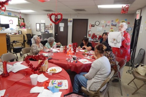 Valentines Day comes early for Ramona Gardens seniors