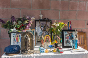 The altar. Photo by Ernesto Orozco.