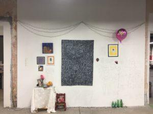 """Artwork created by artist José Lozano for the """"Recuerdos"""" exhibit. Photo by Gus Ugalde."""