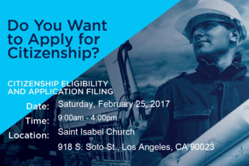 Free citizenship workshop in Boyle Heights