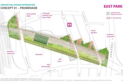 City seeks input on three designs for Sixth Street Bridge PARC