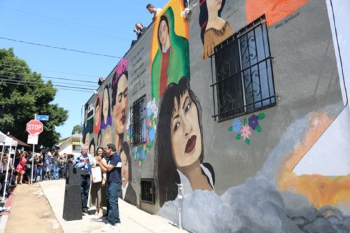 Boyle Heights celebrates mural of 'inspirational' women by 15-year-old artist