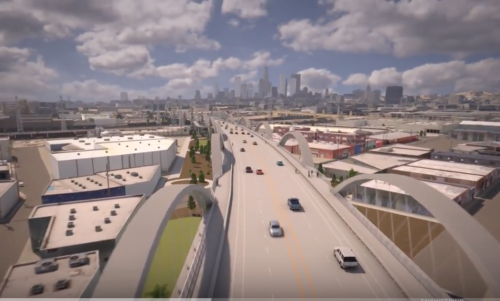 Animated video shows flyover of new Sixth Street Bridge