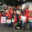 Striking teachers rally against charter schools