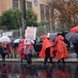 Roosevelt High School teachers on strike